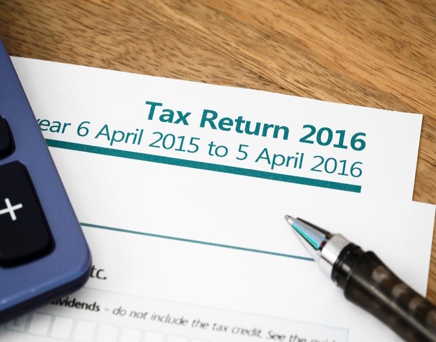 UK tax return form for 2016